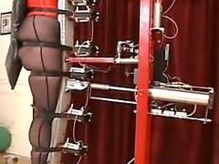 Lackey testing the new torture machine!