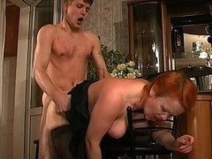 Redhead mother i`d as though less fuck massaging youthful 10-Pounder with her tongue previous less doggystyle frenzy