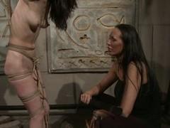 Mandy Bright slap hard a tied naked babe