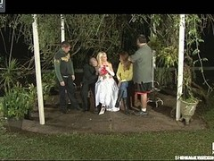 Awesome ladyboy bride going for her first wedding night fucking her spouse