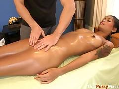 Sexy Thai cutie fucks masseur