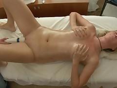 Youthful masseur is working hard to pleasure horny beauty