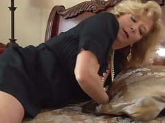 Blonde haired granny with massive boobs spreads her legs in the middle of the and starts fingering her hot twat. She loves playing with her hairy snatch. Watch experienced woman masturbate