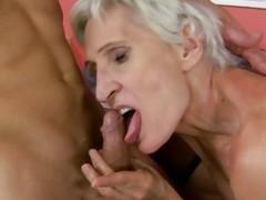 Lusty grandma enjoys obtaining her soggy pussy slammed