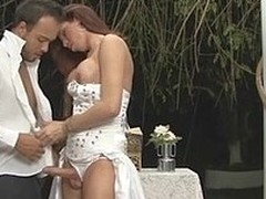 Mind Boggling body ladyboy bride readily ploughs a chap-cunt after a wedding commemorative