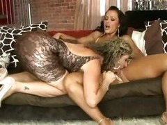 Lisa Ann Together with Sara Jay horny and wet lesbian totty