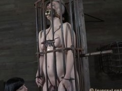 Yeah bitch, you deserve this punishment. You thought that everything needs to be your way and unendingly had lack of respect. Let`s lay eyes on you in that cage how punk you are now. It`s a bit humiliating for such a bad ass girl like you to be caged, tie