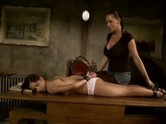 Mandy Bright feeling concupiscent tying a hawt babe on game table